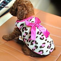 お買い得  犬用ウェア&アクセサリー-ネコ / 犬 Tシャツ 犬用ウェア 蝶結び レッド / ピンク フリース コスチューム ペット用 男性用 / 女性用 カジュアル/普段着