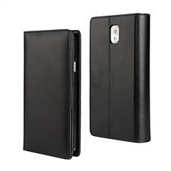 Недорогие Чехлы и кейсы для Galaxy Note 3-Кейс для Назначение SSamsung Galaxy Samsung Galaxy Note Кошелек Чехол Сплошной цвет Кожа PU для Note 3