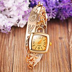 Жен. Модные часы Часы-браслет Кварцевый сплав Группа Блестящие Богемные Элегантные часы Серебристый металл Золотистый