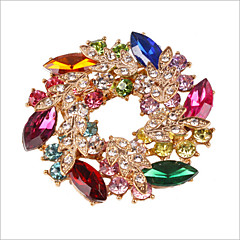 cheap Brooches-Women's Brooches - Crystal, Rhinestone, Imitation Diamond Flower Luxury, Party Brooch Rainbow For Wedding / Party / Special Occasion