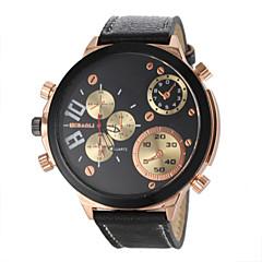 お買い得  メンズ腕時計-JUBAOLI 男性用 クォーツ リストウォッチ カジュアルウォッチ レザー バンド チャーム ブラック 白 ブラウン