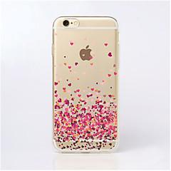 Недорогие Кейсы для iPhone 5-Кейс для Назначение iPhone 5 Apple Кейс для iPhone 5 Прозрачный С узором Кейс на заднюю панель С сердцем Мягкий ТПУ для iPhone SE/5s