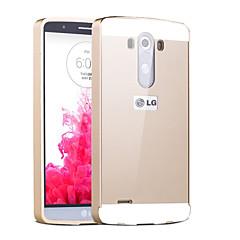 olcso LG tokok-Mert LG tok Galvanizálás Case Hátlap Case Egyszínű Kemény Akril LG LG G3