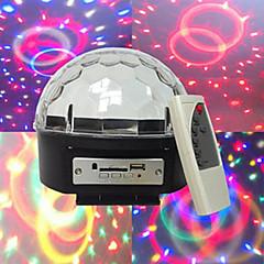 Χαμηλού Κόστους Φωτιστικά Εσωτερικού Χώρου-mp3 φωνή διαμάντια κρυστάλλινη σφαίρα αυτοκινούμενα φωνή mp3 player 3W * χάντρες 6led λάμπα έξι χρωμάτων σε επίπεδο τάσης