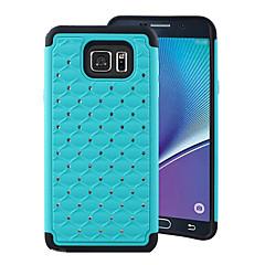 Для Samsung Galaxy Note Защита от удара / Стразы Кейс для Задняя крышка Кейс для Геометрический рисунок PC Samsung Note 5