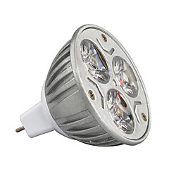 economico Bulk lampadine LED-3W 210-245lm GU5.3(MR16) Faretti LED MR16 3 Perline LED LED ad alta intesità Decorativo Bianco caldo / Luce fredda / Colori primari 12V