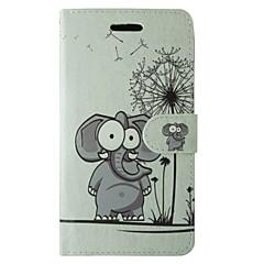 Για Samsung Galaxy Θήκη Θήκη καρτών / με βάση στήριξης / Ανοιγόμενη / Μαγνητική / Με σχέδια tok Πλήρης κάλυψη tok ΕλέφανταςΣυνθετικό