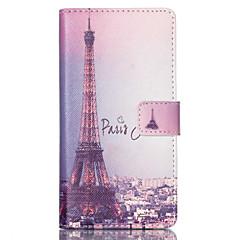 For Sony etui Pung / Kortholder / Med stativ / Flip Etui Heldækkende Etui Eiffeltårnet Hårdt Kunstlæder for SonySony Xperia Z3 Compact /