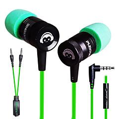 plextone® G10, fülbe e-sport játékok metal nehéz basszus fülhallgató mikrofonnal iphone6 / iphone6 plusz mobiltelefon / pad / mp3 / db