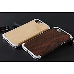 Недорогие Кейсы для iPhone 6-алюминия и дерева бамбука алюминиевого сплава защитный чехол назад для iPhone 6s (ассорти цветов)