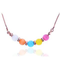 preiswerte Halsketten-Damen Opal Anhängerketten - Edelstahl, vergoldet, Opal Mehrfarbig Regenbogen Modische Halsketten Schmuck Für Party, Alltag, Normal