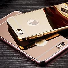 Недорогие Кейсы для iPhone 6-Кейс для Назначение Apple iPhone 6 iPhone 6 Plus Покрытие Зеркальная поверхность Кейс на заднюю панель Сплошной цвет Твердый Металл для