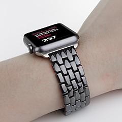 Reloj de la venda para el reloj de la manzana 42m m mariposa hebilla cerámica reemplazo wristband de la correa
