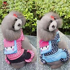 Hund Frakker Jumpsuits Hundetøj Afslappet/Hverdag Polka Prikker Rose Blå Kostume For kæledyr