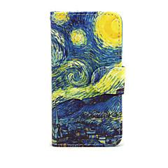 Недорогие Кейсы для iPhone 6-Кейс для Назначение Apple iPhone 7 Plus iPhone 7 Бумажник для карт Кошелек со стендом Флип Чехол Цвет неба Пейзаж Твердый Кожа PU для