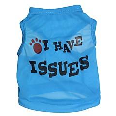 お買い得  犬用ウェア&アクセサリー-ネコ 犬 Tシャツ 犬用ウェア 花/植物 ローズ ブルー ピンク テリレン コスチューム ペット用 男性用 女性用 ファッション