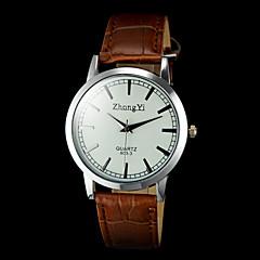 preiswerte Herrenuhren-Herrn Armbanduhr Quartz Armbanduhren für den Alltag PU Band Analog Charme Schwarz / Braun - Schwarz Braun