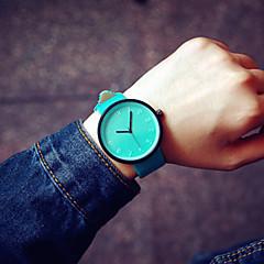 preiswerte Armbanduhren für Paare-Paar Armbanduhr Quartz PU Band Analog Charme Modisch Grün Blau Rosa / Edelstahl