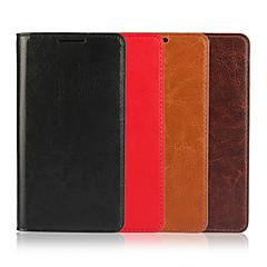 Недорогие Чехлы и кейсы для Sony-Кейс для Назначение Sony Z5 Sony Xperia Z5 Кейс для Sony Бумажник для карт Кошелек со стендом Флип Чехол Сплошной цвет Твердый Настоящая