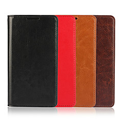 Voor Sony hoesje / Xperia Z5 Portemonnee / Kaarthouder / met standaard / Flip hoesje Volledige behuizing hoesje Effen kleur Hard Echt leer