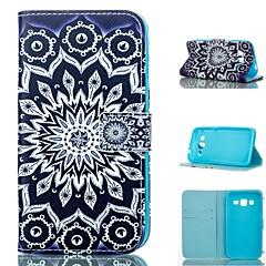 Недорогие Чехлы и кейсы для Galaxy Alpha-Кейс для Назначение SSamsung Galaxy Кейс для  Samsung Galaxy Кошелек / Бумажник для карт / со стендом Чехол Мандала Кожа PU для Grand Prime / Core Prime / Alpha