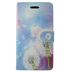 Недорогие Кейсы для iPhone-Кейс для Назначение iPhone 5c Apple Бумажник для карт Кошелек со стендом Флип Чехол одуванчик Твердый Кожа PU для iPhone SE/5s iPhone 5c