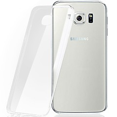 abordables Galaxy S6 Edge Carcasas / Fundas-Funda Para Samsung Galaxy Funda Samsung Galaxy Transparente Funda Trasera Color sólido TPU para S7 edge / S7 / S6 edge plus