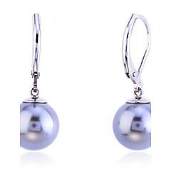 preiswerte Ohrringe-Damen Tropfen-Ohrringe - Perle, versilbert, Hülle Modisch Grau Für Party Alltag Normal