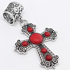 abordables Pendientes y cadenas-Mujer Collares con colgantes - Plata Rojo Gargantillas Joyas Para
