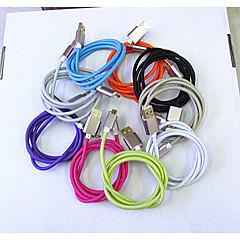 metalli punottu rivi Samsung Micro USB rohkea vetovastus johdotus nopea lataus linja 9 väriä 1m Universaali USB-kaapelit