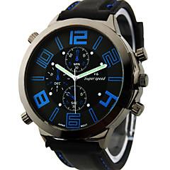 V6 Hombre Reloj Militar Reloj de Pulsera Cuarzo Cuarzo Japonés Silicona Banda Negro