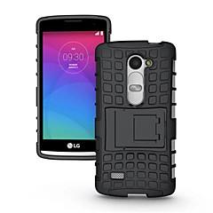 Недорогие Чехлы и кейсы для LG-Кейс для Назначение LG Кейс для LG Защита от удара со стендом Кейс на заднюю панель броня Твердый ПК для