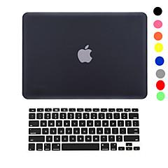 hesapli MacBook Aksesuarları-2 ultra ince hafif macbook pro 13/15 inç sabit kasa kapağını + klavye kapağı kauçuklanır 1 ((çeşitli renklerde)