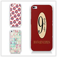 Недорогие Кейсы для iPhone-Кейс для Назначение iPhone 5 Apple Кейс для iPhone 5 С узором Кейс на заднюю панель Эйфелева башня Твердый ПК для iPhone SE / 5s iPhone 5