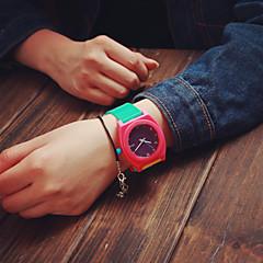 preiswerte Damenuhren-Damen damas Armbanduhr Quartz Schlussverkauf Silikon Band Analog Charme Modisch Rot Grün Wassermelone / Edelstahl