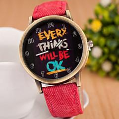 preiswerte Armbanduhren für Paare-Herrn Damen Paar Modeuhr Quartz Leder Band Analog Böhmische Schwarz / Blau / Rot - Schwarz Rot Blau