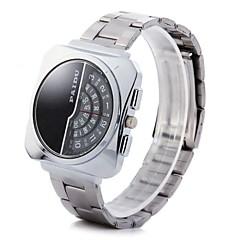 お買い得  大特価腕時計-男性用 リストウォッチ クォーツ スポーツウォッチ PU バンド ハンズ 光沢タイプ ブラック - ホワイト ブラック ブラックとホワイト