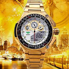 お買い得  メンズ腕時計-男性用 デジタルウォッチ / 軍用腕時計 / スポーツウォッチ 日本産 アラーム / カレンダー / 耐水 ステンレス / 合金 バンド ぜいたく / カジュアル / ファッション ゴールド