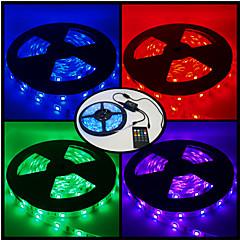 billige LED Super Sale-5 m RGB-Lysstriber 300 lysdioder RGB Fjernbetjening Chippable Dæmpbar Farveskiftende Passer til Køretøjer 12V