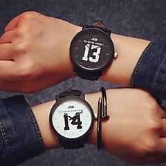preiswerte Armbanduhren für Paare-Paar Armbanduhr Leder Band Charme / Modisch / Ein Jahr / SSUO 377