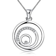Naisten Choker-kaulakorut Riipus-kaulakorut Statement kaulakorut Circle Shape Geometric Shape Sterling-hopeaMuoti Ontto Personoitu