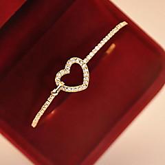 preiswerte Armbänder-Damen Bettelarmbänder Armreife - Diamantimitate Herz, Liebe Armbänder Golden Für Geschenk Alltag Normal