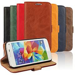 voordelige Galaxy S3 Mini Hoesjes / covers-luxe pu lederen flip case telefoon dekking gevallen met portemonnee voor Samsung Galaxy S3 mini / mini s4 / s5 mini (verschillende