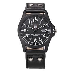 お買い得  メンズ腕時計-男性用 リストウォッチ クォーツ ブラウン / グリーン / カーキ カレンダー ハンズ カジュアル ファッション - グリーン ブラック / ホワイト ブラック 1年間 電池寿命