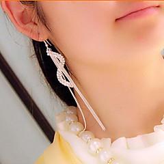 preiswerte Ohrringe-Damen Quaste Lang S geformt Ohrring - Strass Gothic Silber / Golden Für Alltag Normal