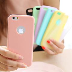 Недорогие Кейсы для iPhone-Кейс для Назначение iPhone 5 Apple iPhone 8 iPhone 8 Plus Кейс для iPhone 5 Ультратонкий Кейс на заднюю панель Сплошной цвет Мягкий ТПУ