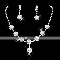 cheap Pearl Jewelry Sets-Women's Pearl Cubic Zirconia Jewelry Set Earrings Necklace - Tassel Cute Party Fashion Jewelry Set For Party Special Occasion Anniversary