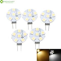 お買い得  LED 電球-SENCART 5個 1.5W 3000-3500/6000-6500lm G4 LEDスポットライト MR11 6 LEDビーズ SMD 5050 調光可能 温白色 / ナチュラルホワイト 12V / RoHs