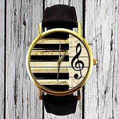 Mulheres Relógio de Moda Relógio de Pulso Quartzo / PU Banda Vintage Casual Preta