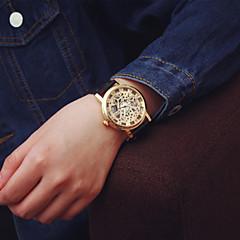 Χαμηλού Κόστους Γυναικεία ρολόγια-Για Ζευγάρια Χαλαζίας Ρολόι Καρπού Εσωτερικού Μηχανισμού PU Μπάντα Φυλαχτό / Μοντέρνα Μαύρο / Καφέ